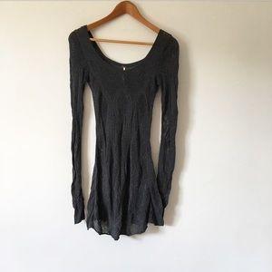 Free People Loose Knit Long-Sleeve Sweater Dress